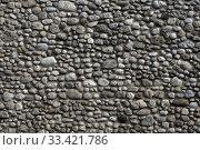 Купить «Natural stone wall background», фото № 33421786, снято 17 февраля 2019 г. (c) Михаил Коханчиков / Фотобанк Лори