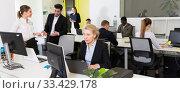 Купить «Business people working in coworking space», фото № 33429178, снято 10 марта 2018 г. (c) Яков Филимонов / Фотобанк Лори