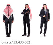 Купить «Arab man isolated on white», фото № 33430602, снято 22 октября 2013 г. (c) Elnur / Фотобанк Лори