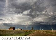 Купить «Prairie Storm Clouds Canada Saskatchewan Summer Warnings», фото № 33437994, снято 27 мая 2020 г. (c) age Fotostock / Фотобанк Лори