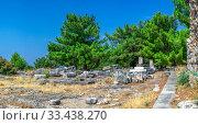 Купить «Ancient city Priene in Turkey», фото № 33438270, снято 20 июля 2019 г. (c) Sergii Zarev / Фотобанк Лори