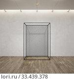 Купить «Metal frame construction into the loft interior, 3d rendering», иллюстрация № 33439378 (c) Дмитрий Кутлаев / Фотобанк Лори