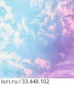 Купить «Magical dream, nature backdrop and spiritual holiday concept - Dreamy surreal sky as abstract art, fantasy pastel colours background for modern design», фото № 33448102, снято 9 апреля 2020 г. (c) easy Fotostock / Фотобанк Лори