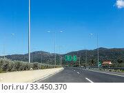 Купить «The Tripolis-Sparti national road (Greece, Peloponnese)», фото № 33450370, снято 11 марта 2020 г. (c) Татьяна Ляпи / Фотобанк Лори