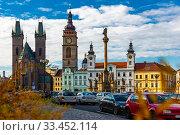 Купить «Gothic Cathedral of the Holy Spirit. Hradec Kralove. Czech Republic», фото № 33452114, снято 6 апреля 2020 г. (c) Яков Филимонов / Фотобанк Лори
