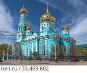 Купить «Казанский собор в Сызрани, Самарская область», фото № 33469602, снято 9 мая 2014 г. (c) Михаил Марковский / Фотобанк Лори