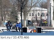 Балашиха, работники сферы ЖКХ в дни самоизоляции при Коронавирусной инфекции. Редакционное фото, фотограф Дмитрий Неумоин / Фотобанк Лори