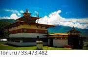 Exterior view to monastery Chimi Lhakhang , Bhutan. Стоковое фото, фотограф Zoonar.com/Sergey Mayorov / easy Fotostock / Фотобанк Лори