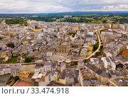 Купить «View of Lugo district with buildings and landscape, Galicia», фото № 33474918, снято 19 июня 2019 г. (c) Яков Филимонов / Фотобанк Лори