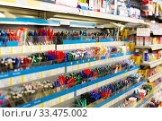 Image of shelves with a different pens and stationery. Стоковое фото, фотограф Яков Филимонов / Фотобанк Лори