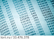 Купить «Financial Data Concept with Numbers, Spreadsheet Bank Accounts Accounting, Concept for Financial Fraud Investigation, Audit and Analysis, Balance Sheet, Numbers Background, Stock Market Quotes», фото № 33476378, снято 5 августа 2020 г. (c) age Fotostock / Фотобанк Лори