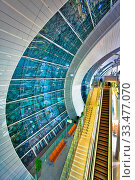 Futuristic interior of modern airport. Стоковое фото, фотограф Zoonar.com/Dmitry Kushch / age Fotostock / Фотобанк Лори