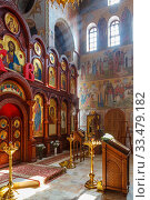 Nizhny Novgorod, Russia - August 20, 2016. The interior of the church in honor of the Icon of Our Lady of Kazan at the Zelensky downhill. Стоковое фото, фотограф Дмитрий Тищенко / Фотобанк Лори
