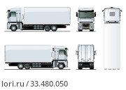 Купить «Vector truck template isolated on white», иллюстрация № 33480050 (c) Александр Володин / Фотобанк Лори