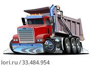 Купить «Vector Cartoon Dump Truck.», иллюстрация № 33484954 (c) Александр Володин / Фотобанк Лори
