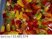 Купить «Разноцветный жевательный мармелад», эксклюзивное фото № 33485574, снято 9 мая 2010 г. (c) lana1501 / Фотобанк Лори