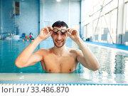 Купить «Female swimmer in pool, woman at the poolside», фото № 33486870, снято 19 февраля 2020 г. (c) Tryapitsyn Sergiy / Фотобанк Лори