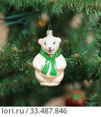 """Елочная игрушка. Белый медведь """"Умка"""" Стоковое фото, фотограф Denis Kh. / Фотобанк Лори"""