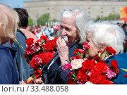 Купить «Ветераны Великой Отечественной войны во время праздника Победы 9 мая на Поклонной горе в Москве», эксклюзивное фото № 33488058, снято 9 мая 2010 г. (c) lana1501 / Фотобанк Лори