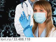 Купить «Concept of corona virus.», фото № 33488118, снято 13 июля 2020 г. (c) Jan Jack Russo Media / Фотобанк Лори