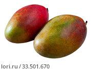 Купить «Ripe mango on wooden table», фото № 33501670, снято 10 июля 2020 г. (c) Яков Филимонов / Фотобанк Лори
