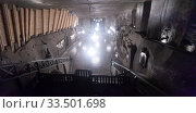 Chapel of Saint Kinga in salt mine in Wieliczka, Poland. Стоковое фото, фотограф Яков Филимонов / Фотобанк Лори
