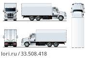 Купить «Vector truck template isolated on white», иллюстрация № 33508418 (c) Александр Володин / Фотобанк Лори