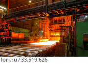 ThyssenKrupp Steel, Heavy Plate Mill, Huettenheim, Duisburg, Ruhr Area, North Rhine-Westphalia, Germany, Europe (2019 год). Редакционное фото, агентство Caro Photoagency / Фотобанк Лори