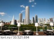 Singapore, Republic of Singapore, City view with Swissotel The Stamford Hotel in Raffles City. Редакционное фото, агентство Caro Photoagency / Фотобанк Лори