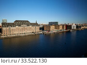 Berlin, Germany - City view of the former East Port area in Friedrichshain. . Редакционное фото, агентство Caro Photoagency / Фотобанк Лори