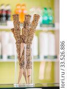Italian ice cream cones in a local Gelateria in Rome. Стоковое фото, фотограф Дмитрий Травников / Фотобанк Лори