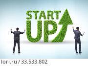 Купить «Concept of green start-up and venture capital», фото № 33533802, снято 4 августа 2020 г. (c) Elnur / Фотобанк Лори