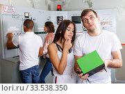 Купить «Young people with battery charger in lost room-bunker», фото № 33538350, снято 8 октября 2018 г. (c) Яков Филимонов / Фотобанк Лори