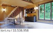 modern home interior. Стоковое фото, фотограф Виктор Застольский / Фотобанк Лори