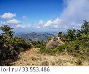 Купить «Landscape of La Gran Piedra, Santiago de Cuba Province, Cuba.», фото № 33553486, снято 18 апреля 2019 г. (c) age Fotostock / Фотобанк Лори