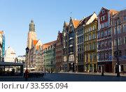 Main square of Wroclaw, Poland. Редакционное фото, фотограф Яков Филимонов / Фотобанк Лори