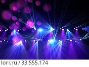 Stage lights on concert. Стоковое фото, фотограф Ольга Визави / Фотобанк Лори