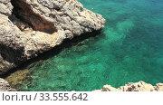 Video of rocky shore of Cape Greco. Cyprus. Стоковое видео, видеограф Serg Zastavkin / Фотобанк Лори