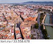 Купить «Aerial view of Murcia cityscape», фото № 33558678, снято 17 апреля 2019 г. (c) Яков Филимонов / Фотобанк Лори