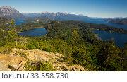 Lago Nahuel Huapi and Cerro Campanario. Стоковое фото, фотограф Яков Филимонов / Фотобанк Лори