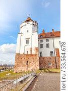 Купить «Mir Castle Complex. Republic of Belarus», фото № 33564678, снято 9 марта 2020 г. (c) Parmenov Pavel / Фотобанк Лори