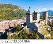 Medieval fortress Chateau de Foix (2018 год). Стоковое фото, фотограф Яков Филимонов / Фотобанк Лори