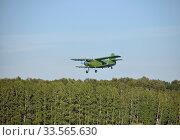 Самолет Ан-2 летит над лесом (2016 год). Редакционное фото, фотограф Голованов Сергей / Фотобанк Лори