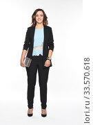 Купить «Девушка в деловой одежде. Бизнес стиль, офис.», фото № 33570618, снято 11 октября 2016 г. (c) Светлана Голинкевич / Фотобанк Лори