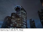 Doha, Qatar - Nov 18. 2019. Qatar Petroleum Headquarter in World Trade Center Doha in West Bay. Редакционное фото, фотограф Володина Ольга / Фотобанк Лори