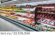 Moscow, Russia - MART 29: Shopping center Lenta on MART 29, 201 (2017 год). Редакционное фото, фотограф Андрей Зык / Фотобанк Лори