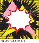 Купить «Boom pop art explosion speech bubble. For comic book and manga. Text banner. Vector bright dynamic cartoon illustration. Template poster for your design», иллюстрация № 33579378 (c) Dmitry Domashenko / Фотобанк Лори