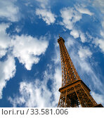 Eiffel Tower in Paris, France (2012 год). Стоковое фото, фотограф Владимир Журавлев / Фотобанк Лори