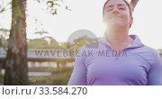 Купить «Caucasian woman breathing fresh air», видеоролик № 33584270, снято 9 апреля 2019 г. (c) Wavebreak Media / Фотобанк Лори