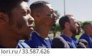 Купить «Baseball players standing on line», видеоролик № 33587626, снято 25 ноября 2019 г. (c) Wavebreak Media / Фотобанк Лори